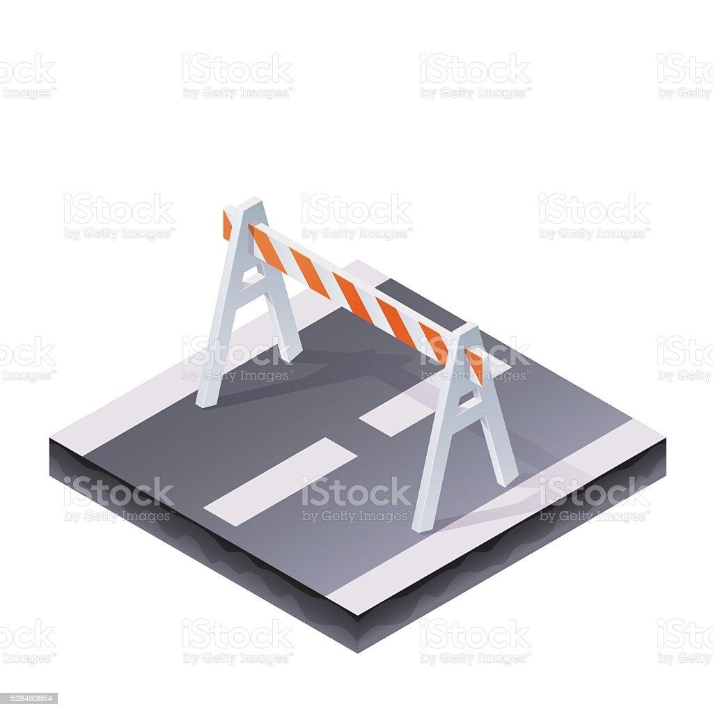 Traffic Barrier Illustration vector art illustration