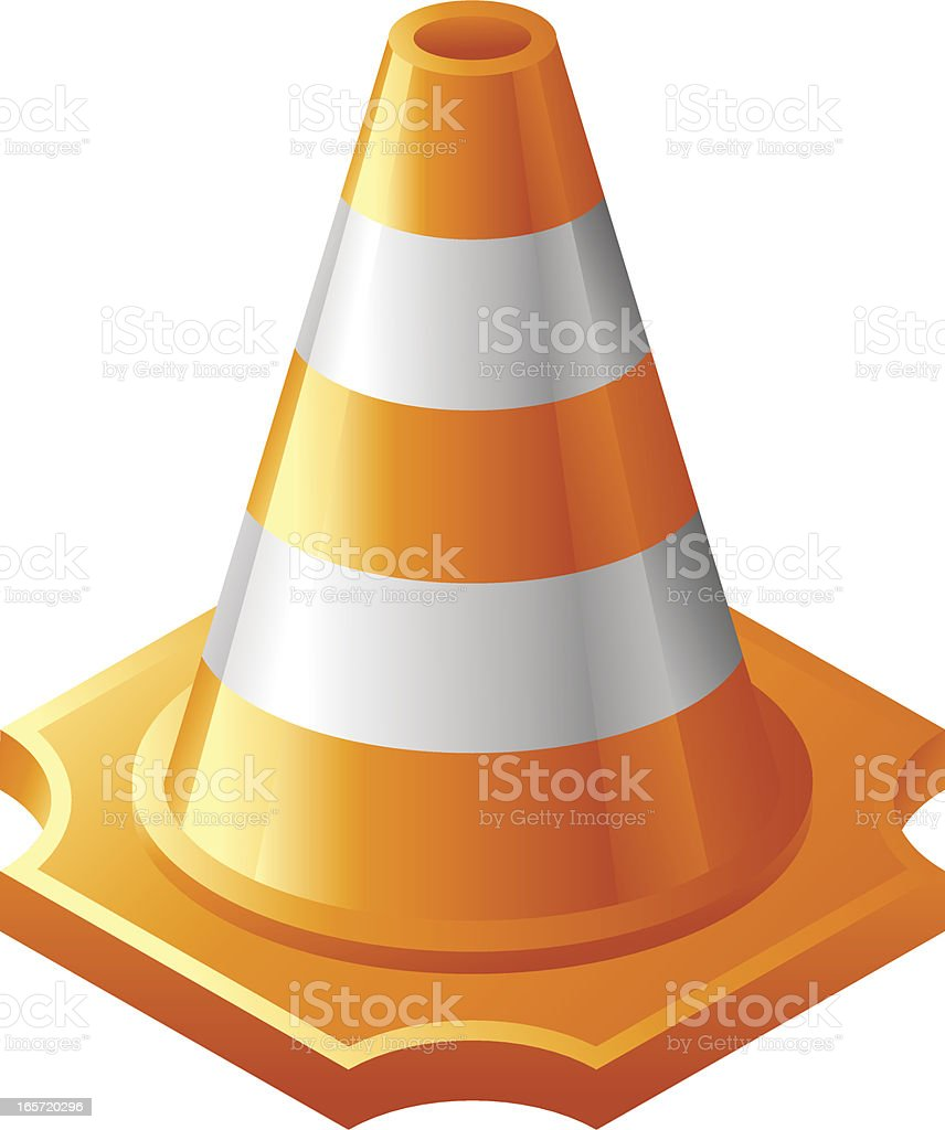 Traffic Cone Icon   Saturated Icons Collection royalty-free stock vector art