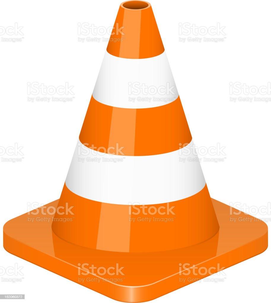traffic cone vector art illustration