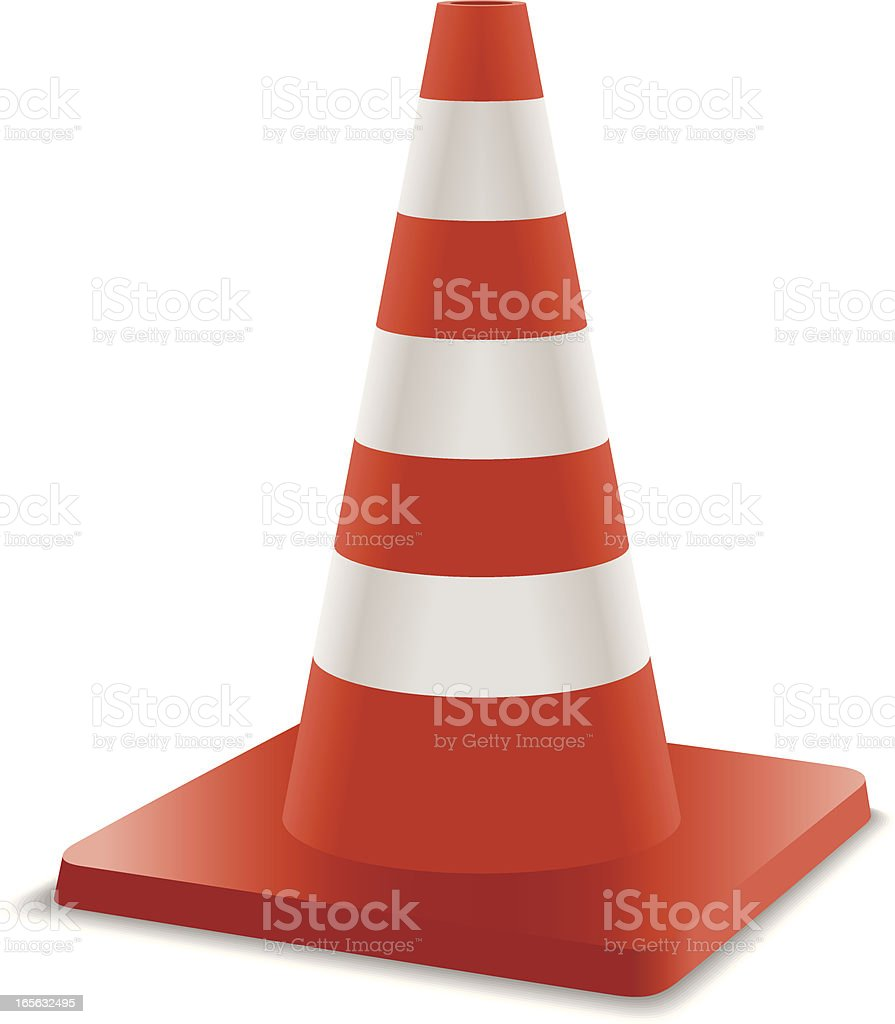 Traffic Cone royalty-free stock vector art