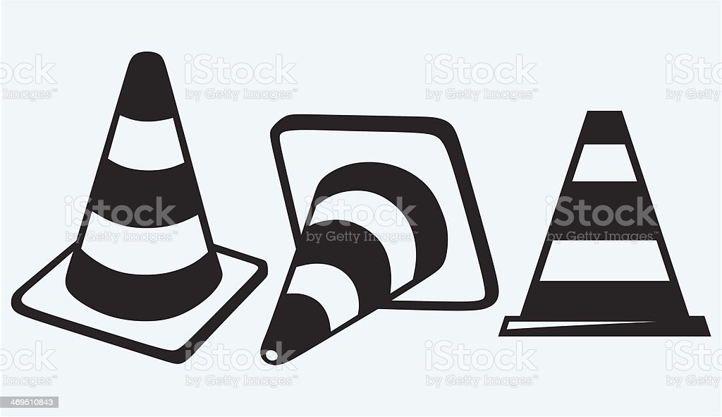 Traffic cones royalty-free stock vector art
