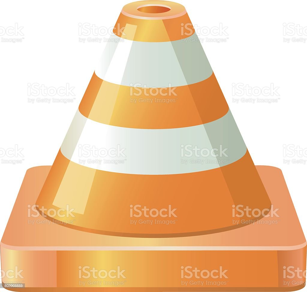Traffic Cones vector royalty-free stock vector art