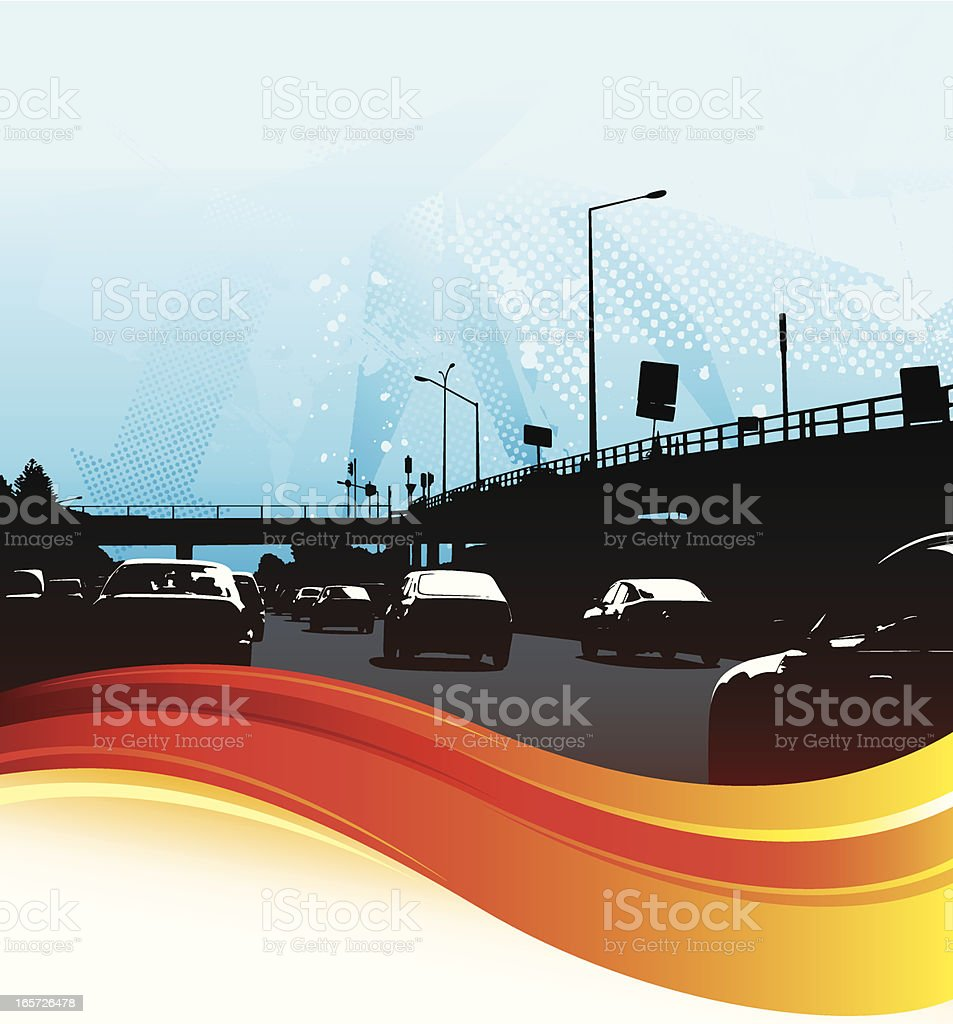 Traffic flow background royalty-free stock vector art