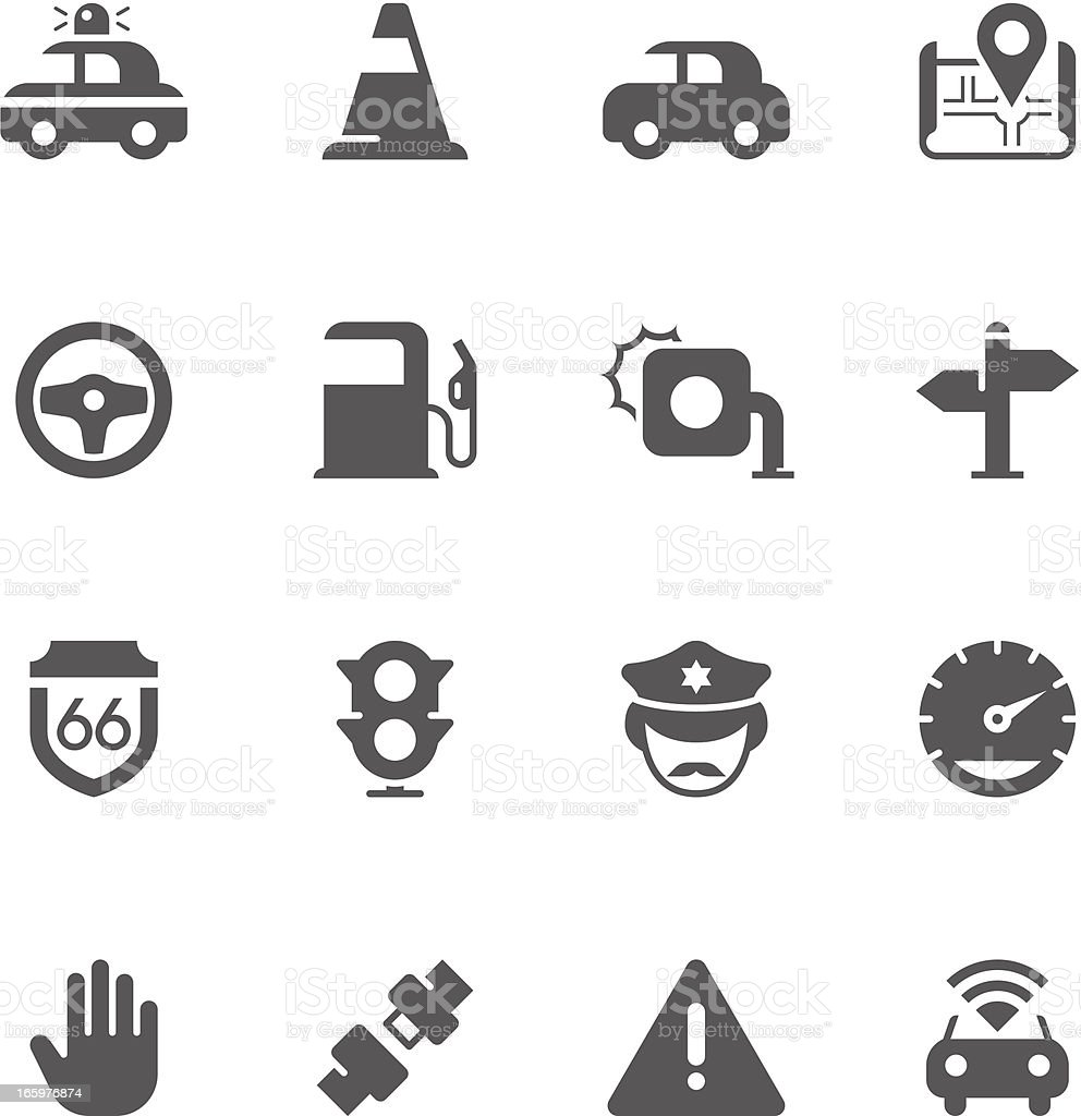 Traffic Icon Set | Unique Series royalty-free stock vector art