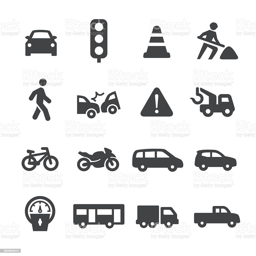 Traffic Icons - Acme Series vector art illustration