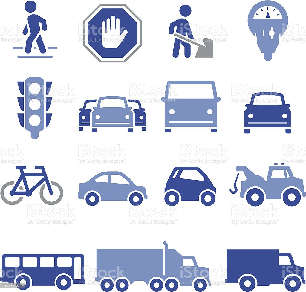 Traffic Icons - Pro Series royalty-free stock vector art