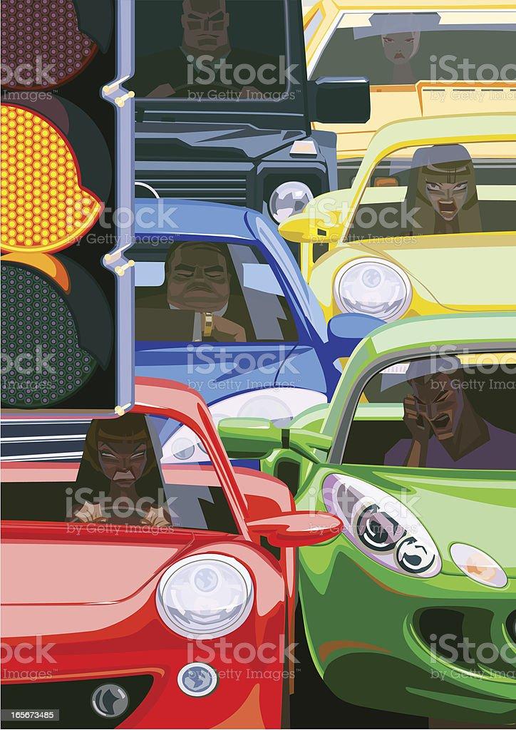 Traffic Jam royalty-free stock vector art