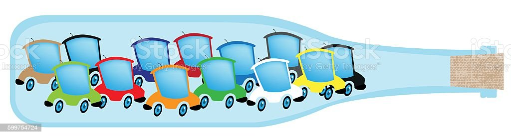 Traffic Jam vector art illustration