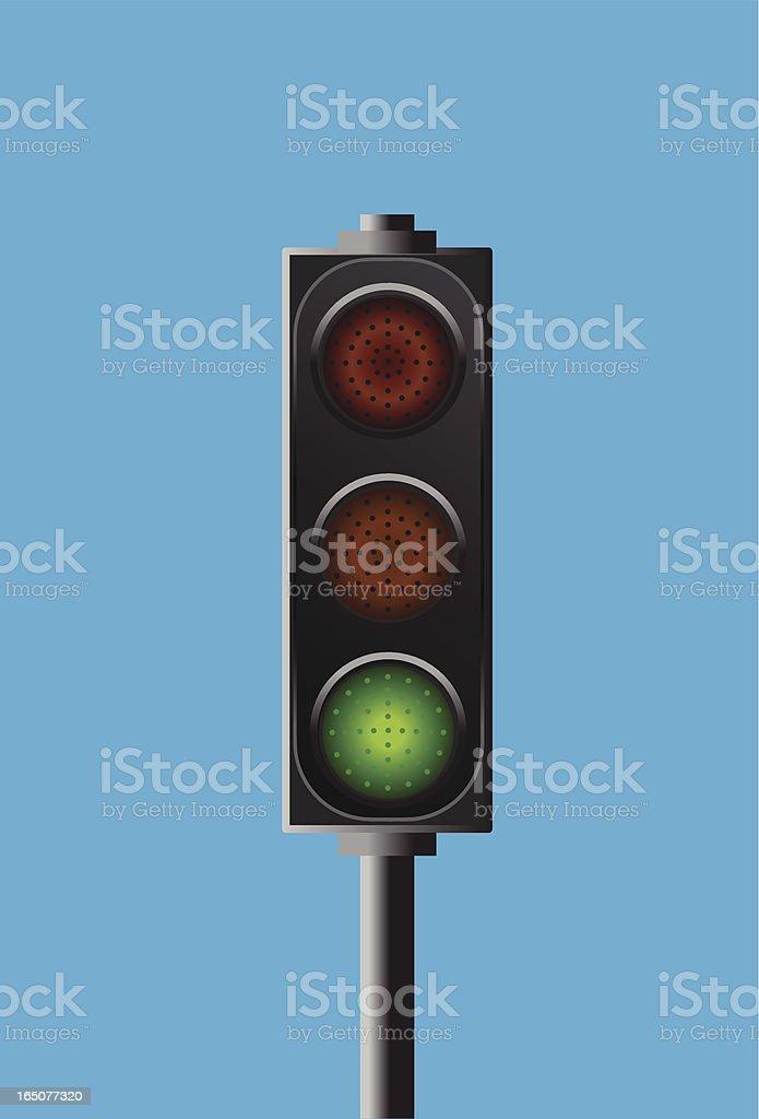 traffic light - go signal royalty-free stock vector art
