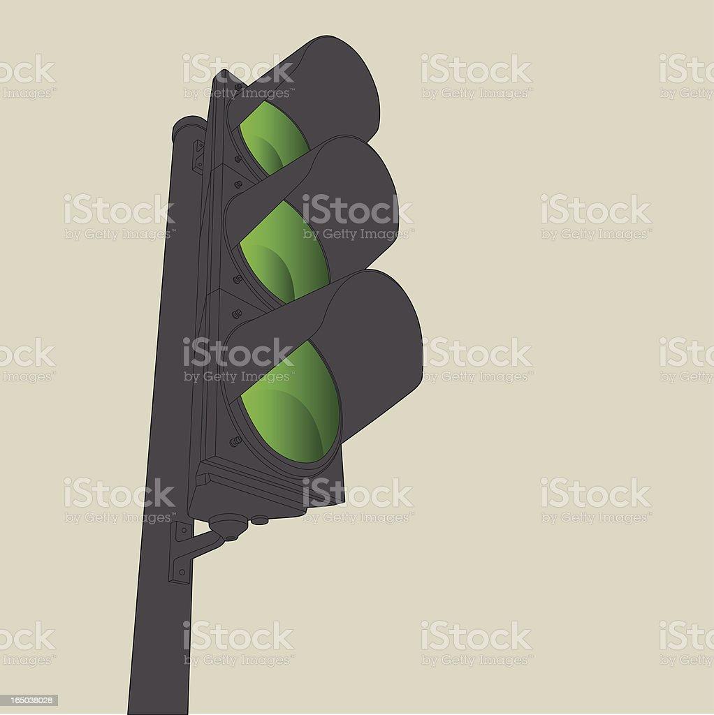 Traffic Light - Go vector art illustration