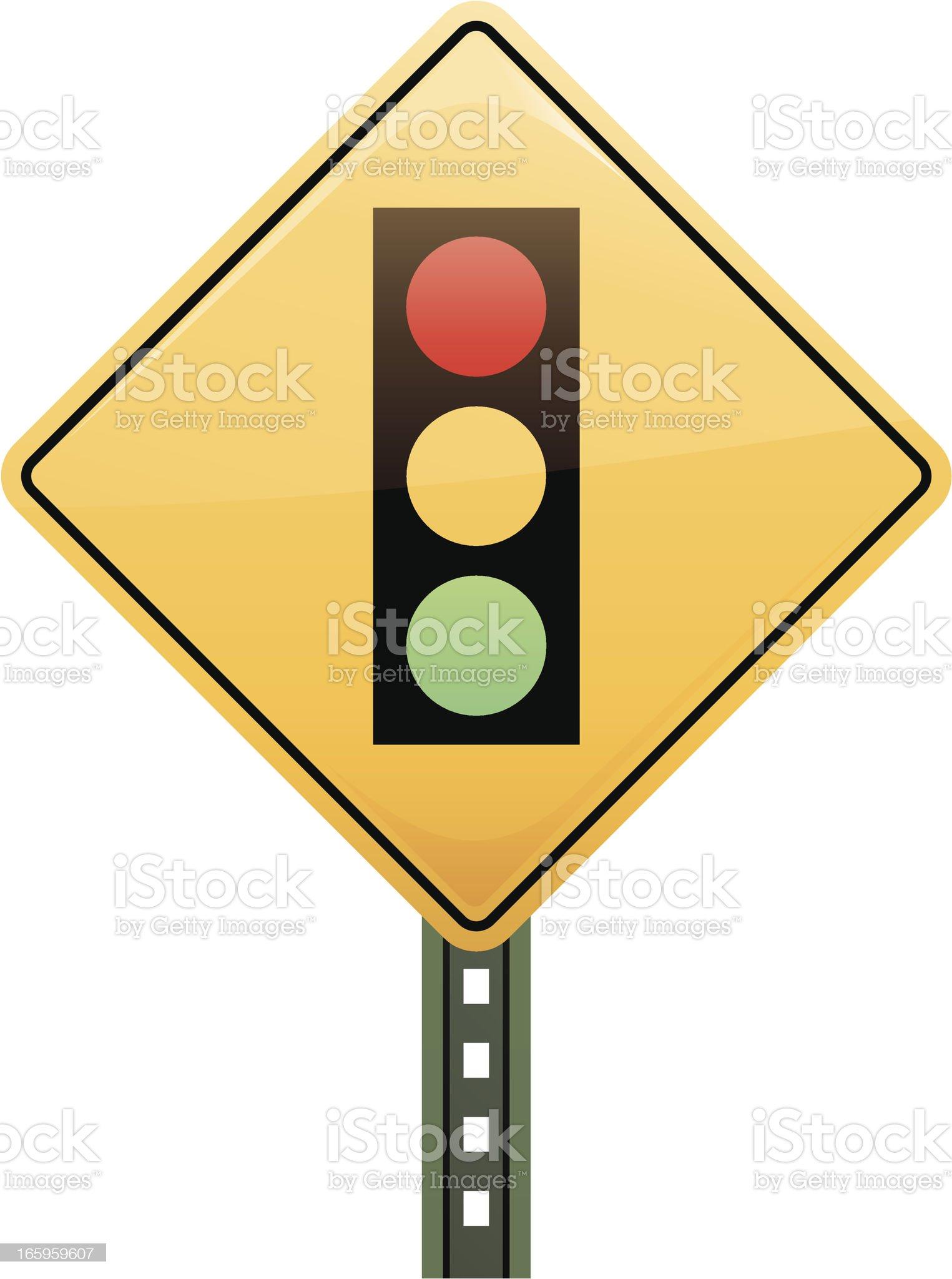 Traffic Light Sign royalty-free stock vector art