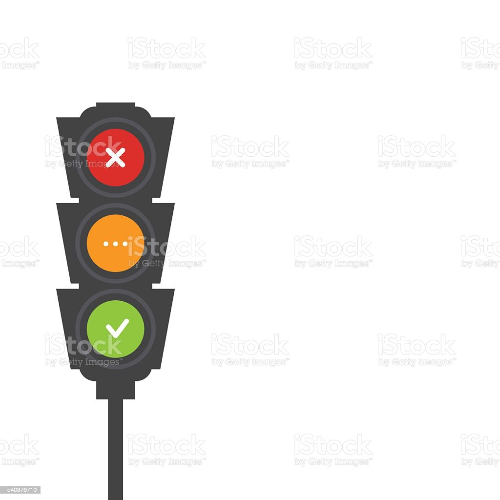 Traffic light signals vector art illustration