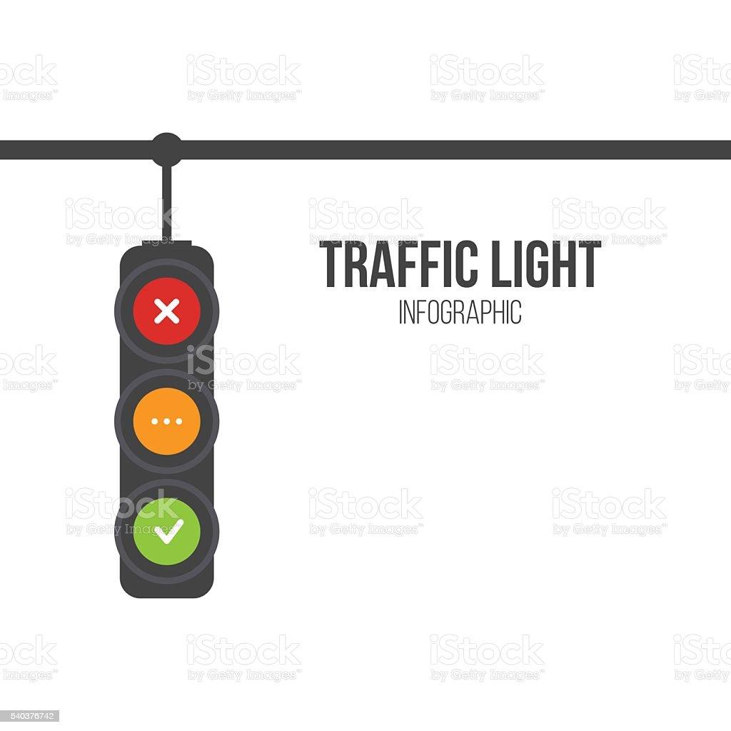 Traffic light signals vector art illustration