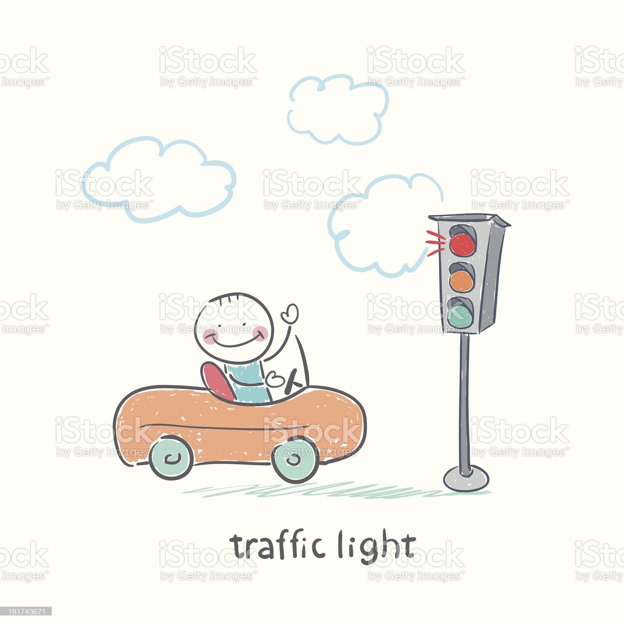 traffic light royalty-free stock vector art