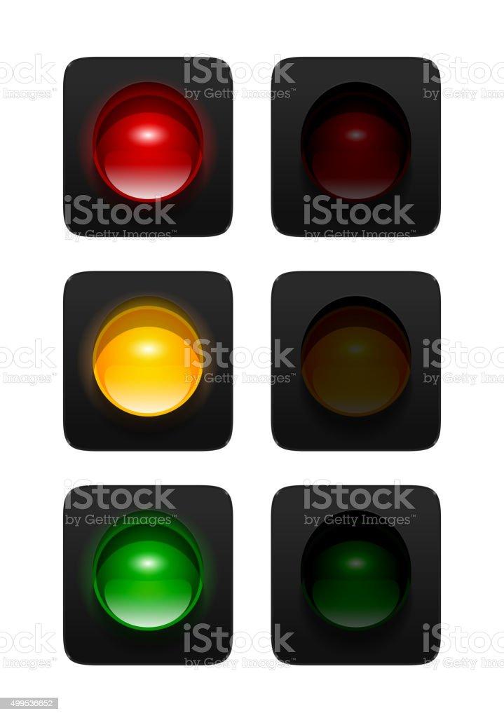 Traffic Lights vector art illustration