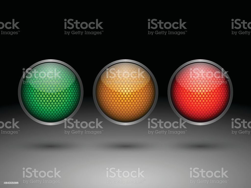 Traffic lights.vector vector art illustration
