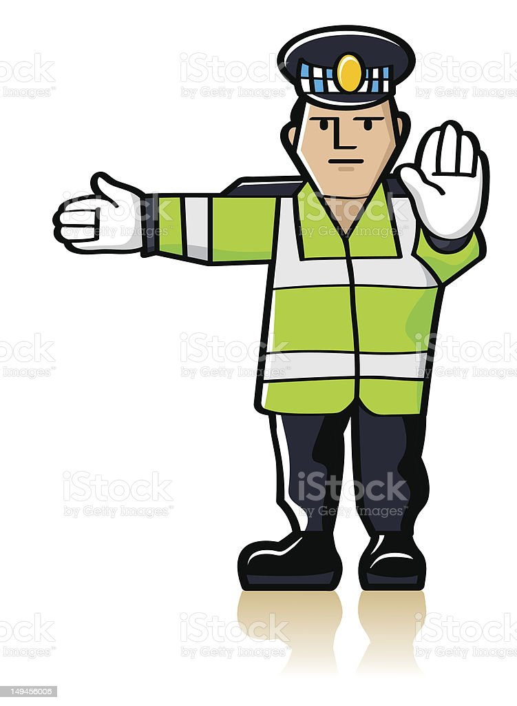 Traffic Officer royalty-free stock vector art