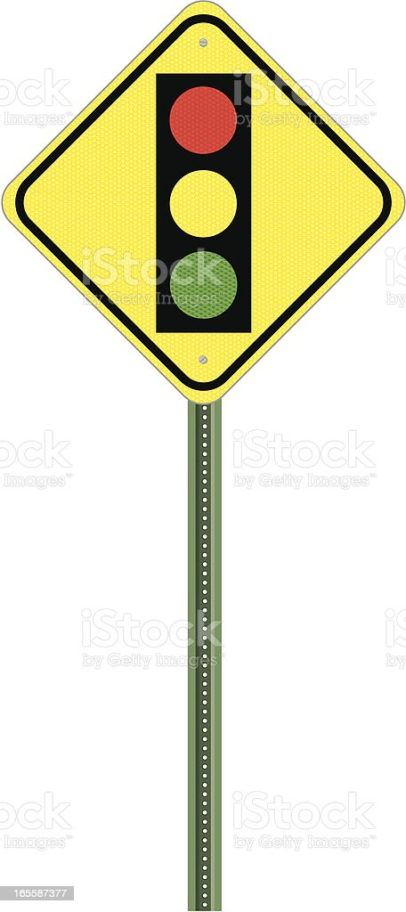Traffic Sign - Stop Ahead royalty-free stock vector art