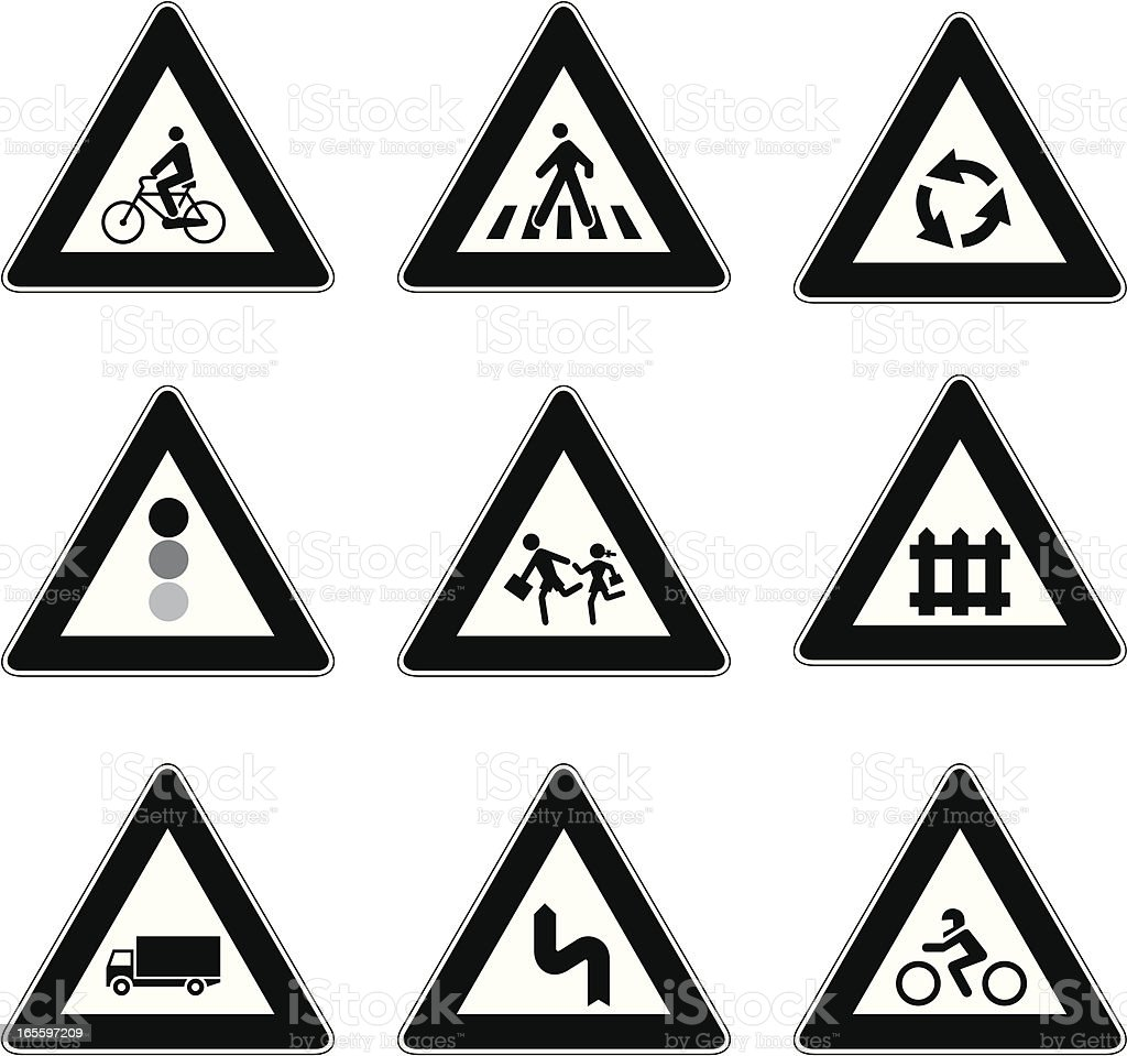 Traffic signal royalty-free stock vector art