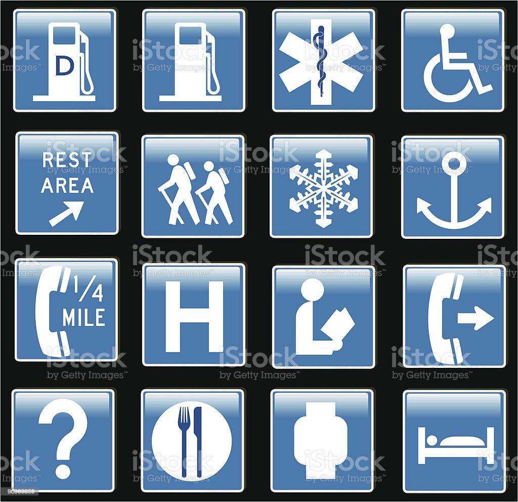 traffic signs information - vector royalty-free stock vector art