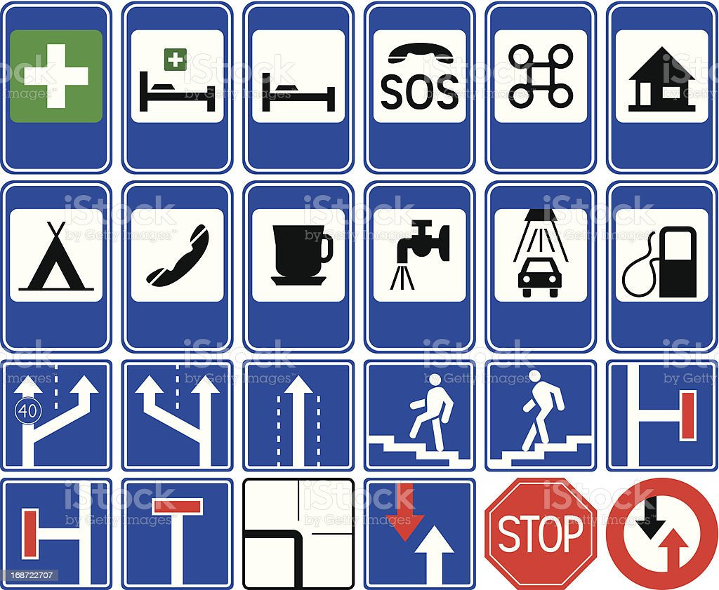 Traffic signs - service. royalty-free stock vector art