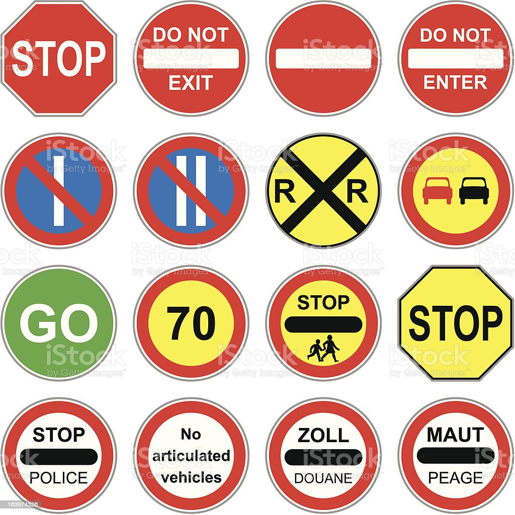 Traffic Signs royalty-free stock vector art