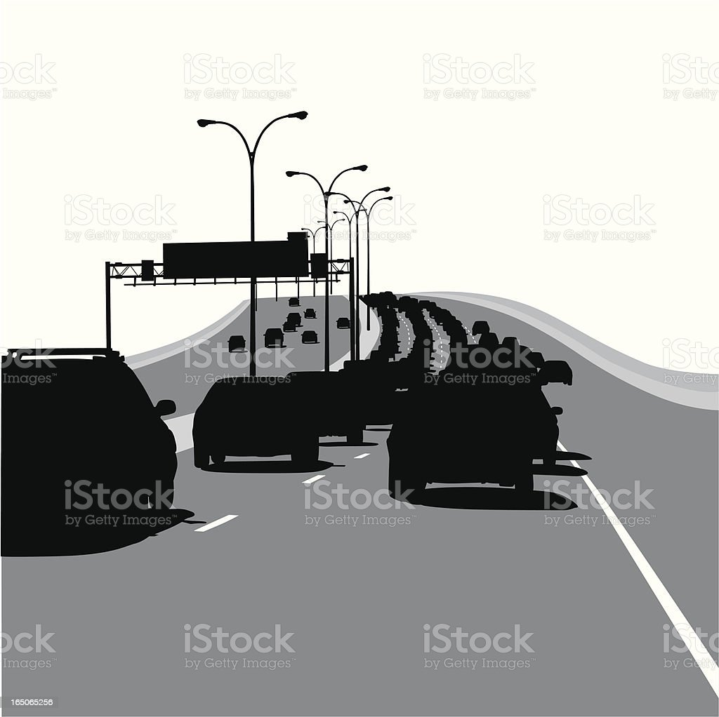 Traffic Vector Silhouette royalty-free stock vector art