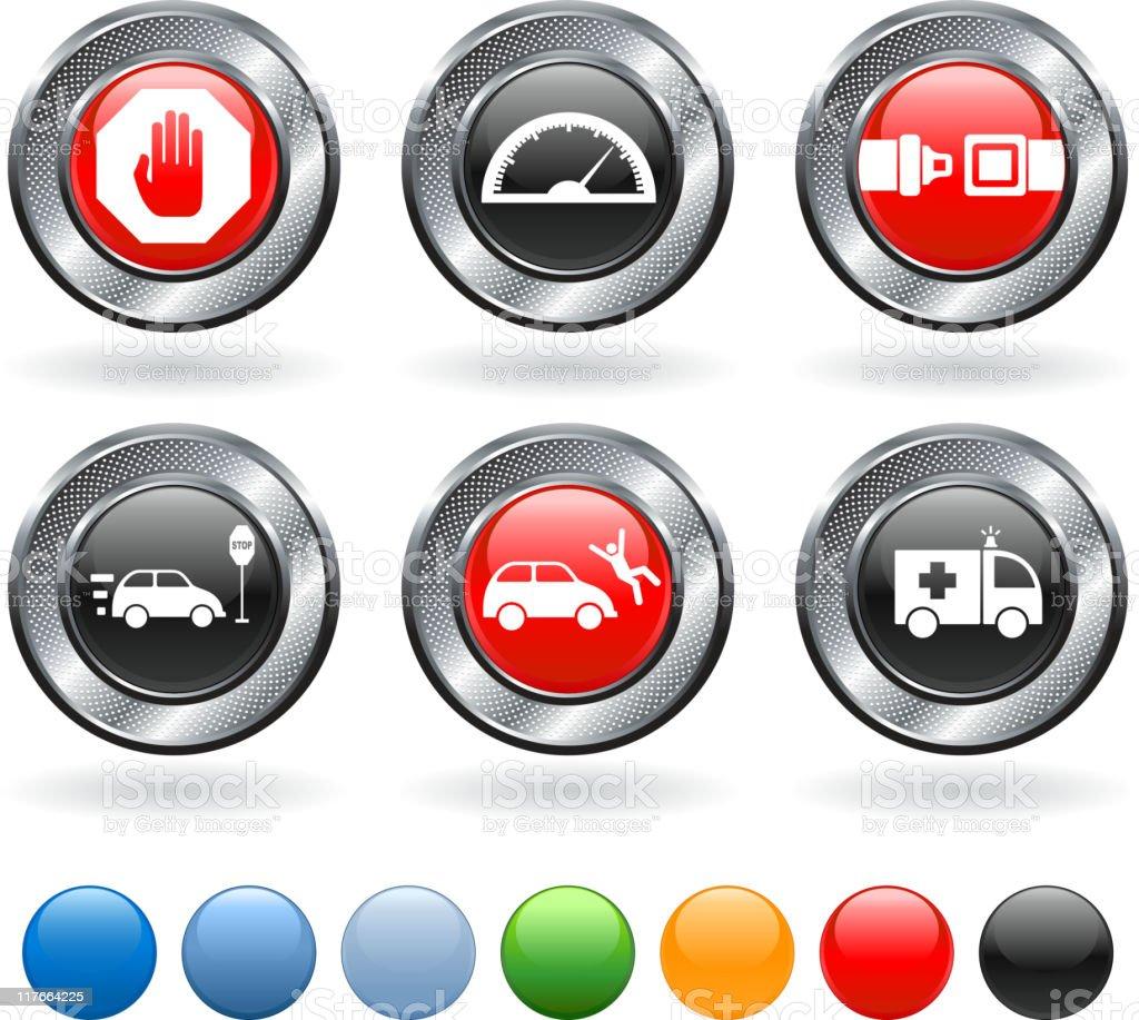 Traffic violations royalty free vector icon set royalty-free stock vector art