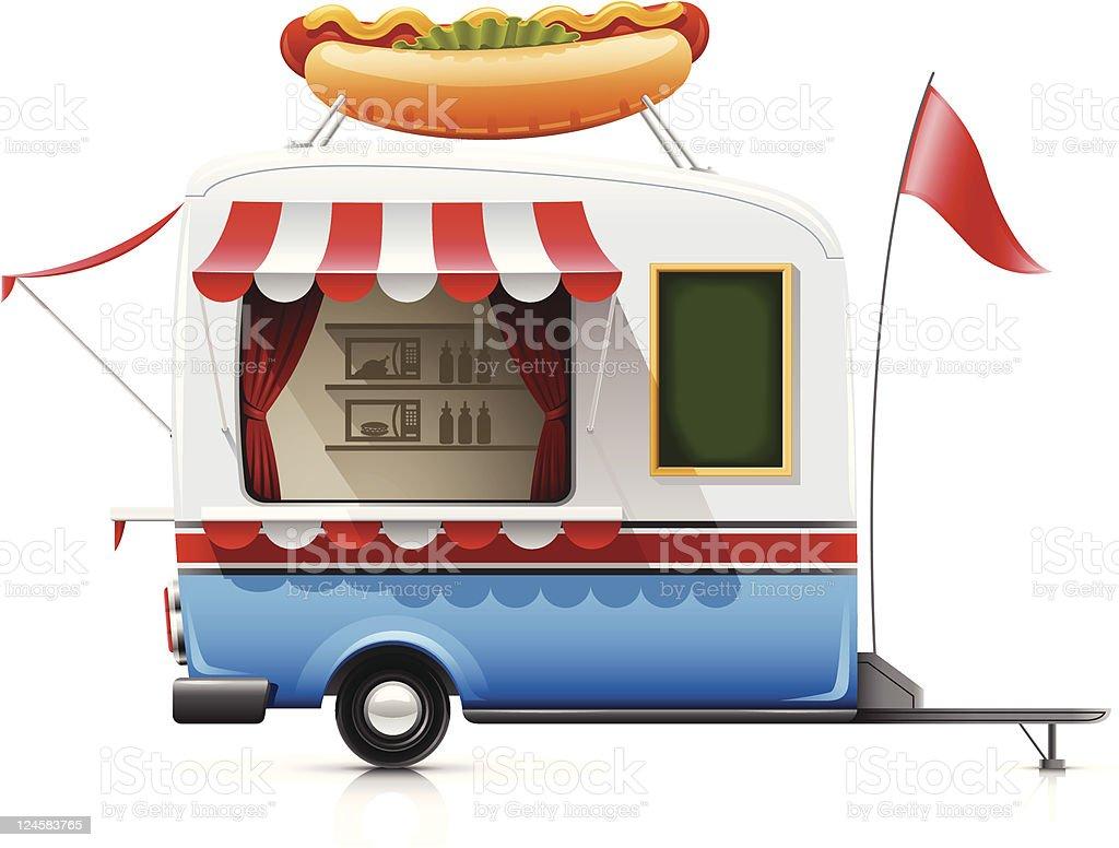 trailer fast food hot dog royalty-free stock vector art