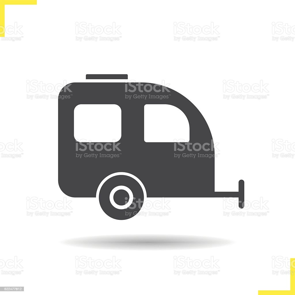 Trailer icon vector art illustration