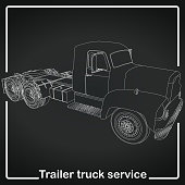 Trailer Truck stripe line