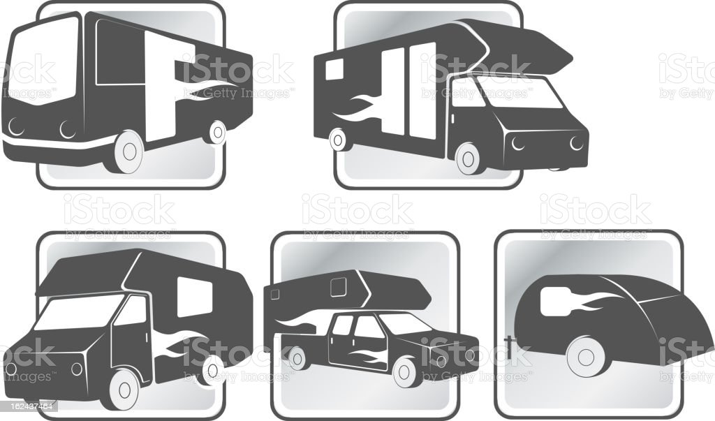 Trailer Trucks Icon royalty-free stock vector art
