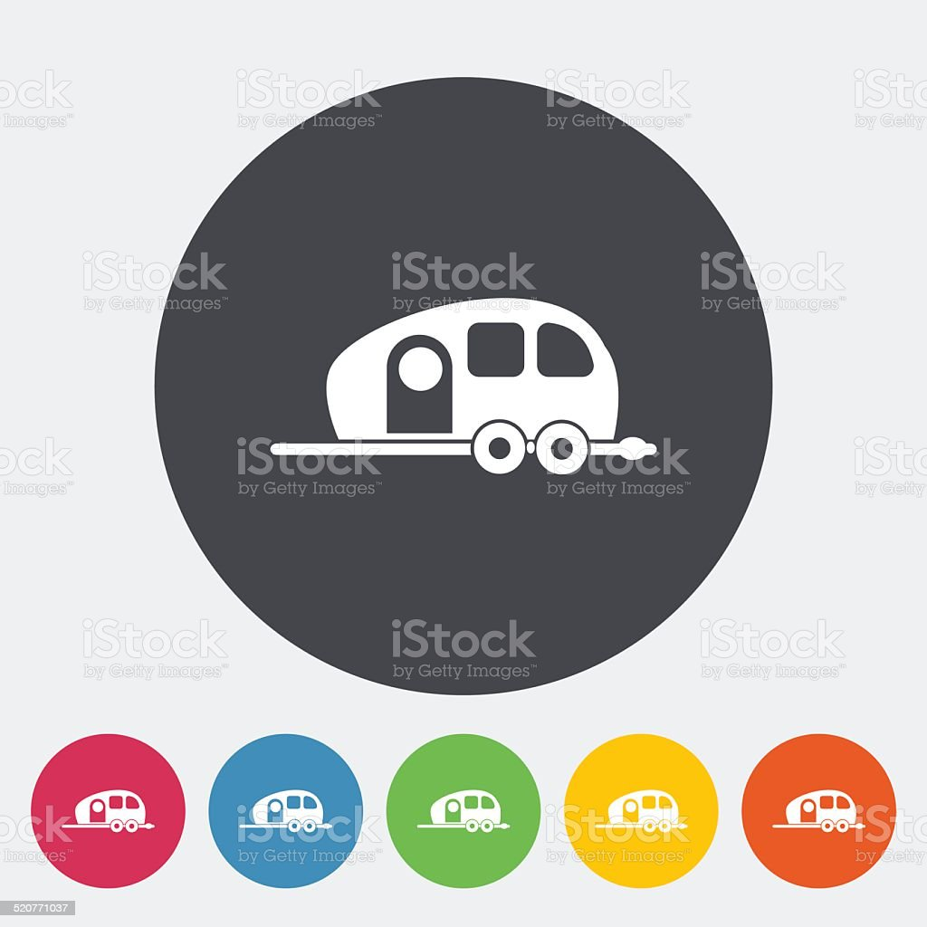 Trailer vector art illustration