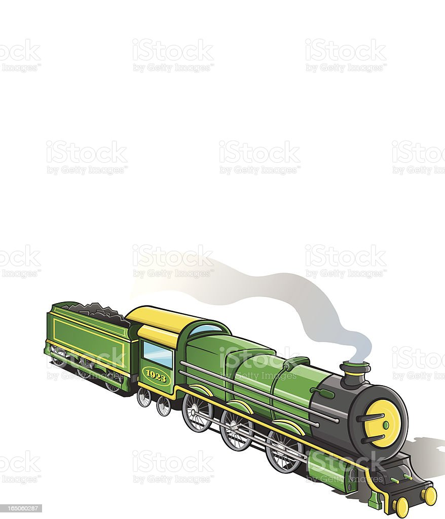 UK train from 1923 vector art illustration