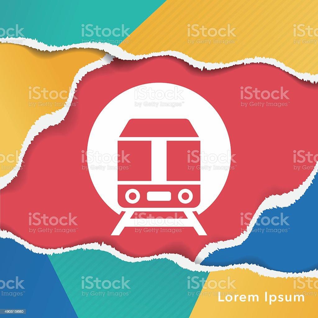 train icon vector art illustration