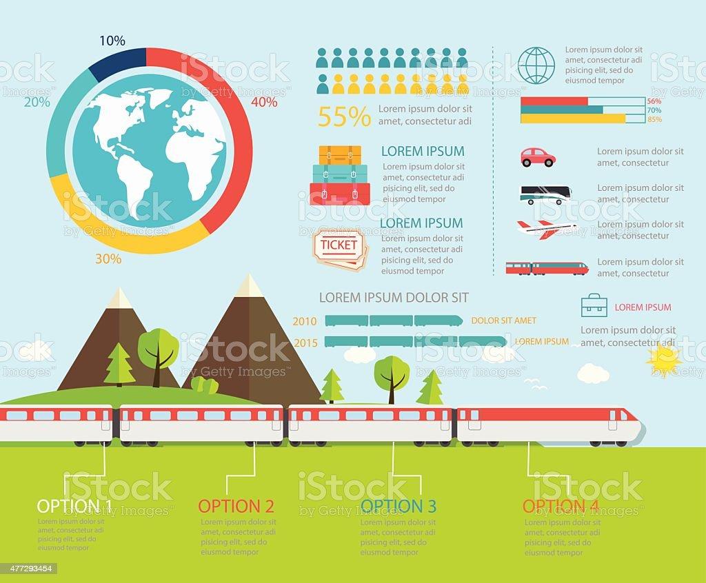 Train infographics, vector illustration vector art illustration