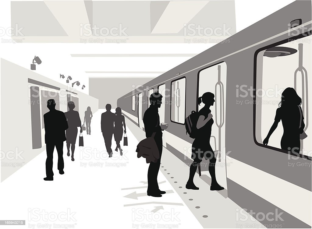 Train Is Comin' Vector Silhouette vector art illustration