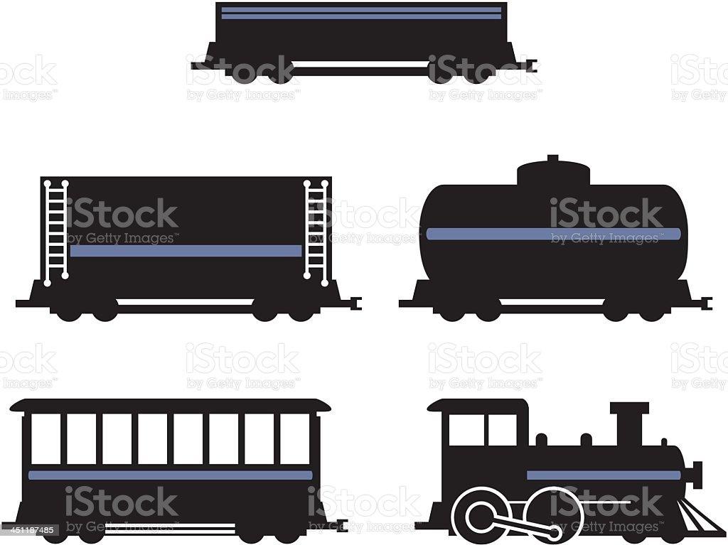 Train Set royalty-free stock vector art