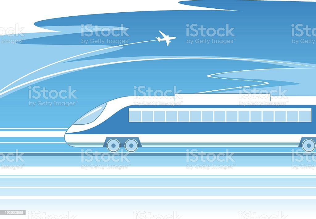 Train сoncept royalty-free stock vector art