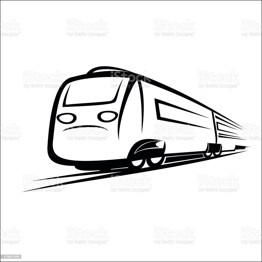 Train symbol royalty-free stock vector art