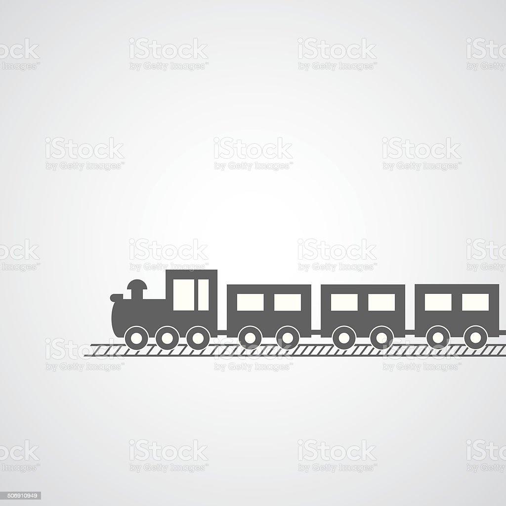 train symbol vector art illustration