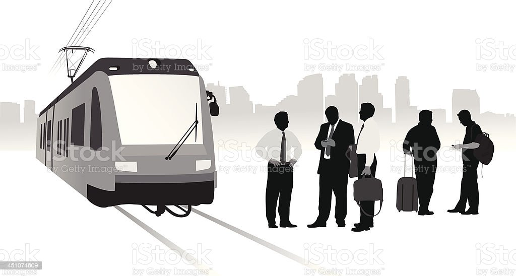 Train Travel royalty-free stock vector art
