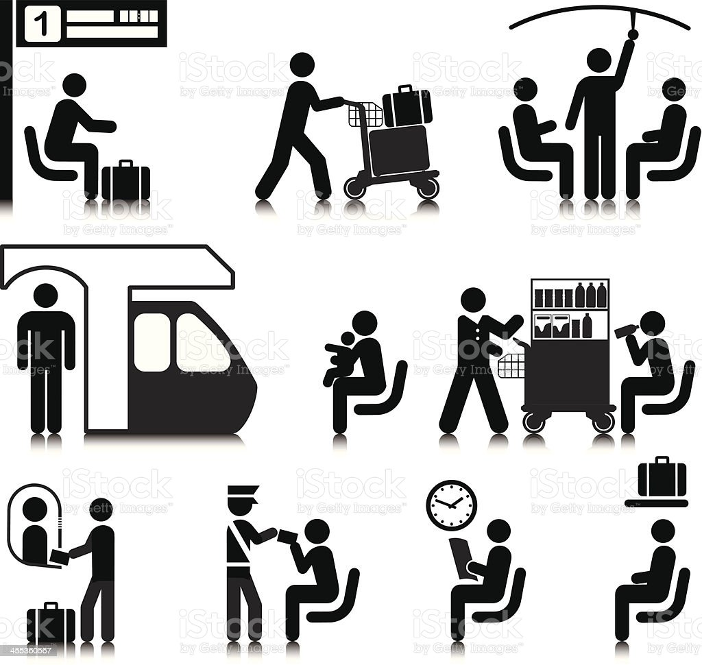 Train Travel vector art illustration