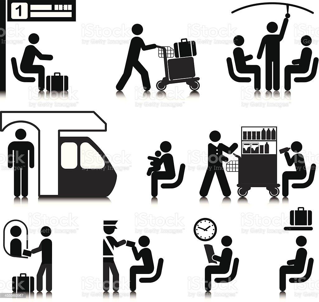 Train Travel vector art illustration