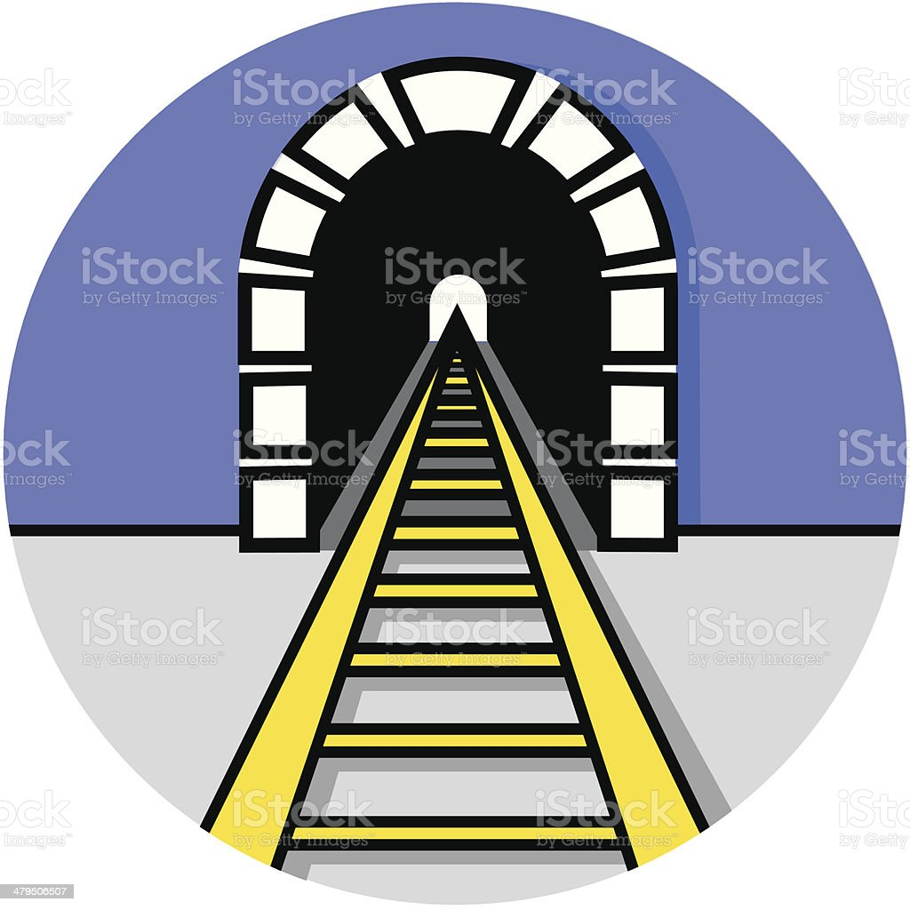 train tunnel icon royalty-free stock vector art