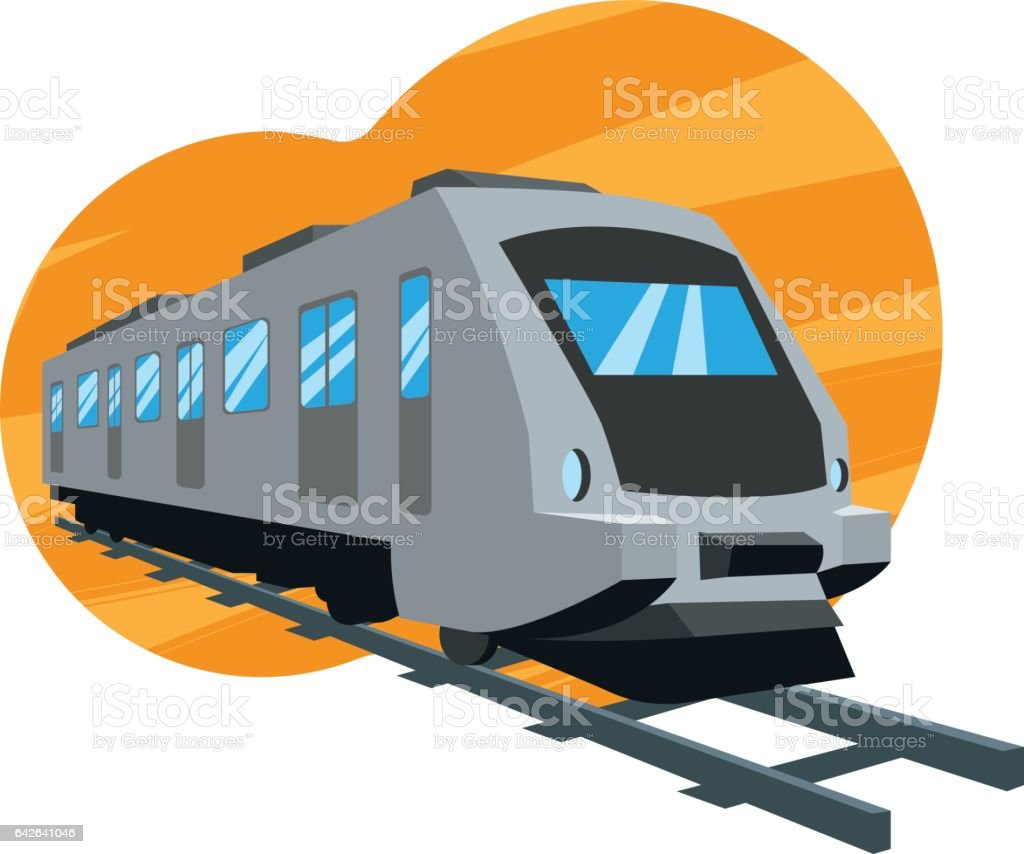 Trem vector art illustration