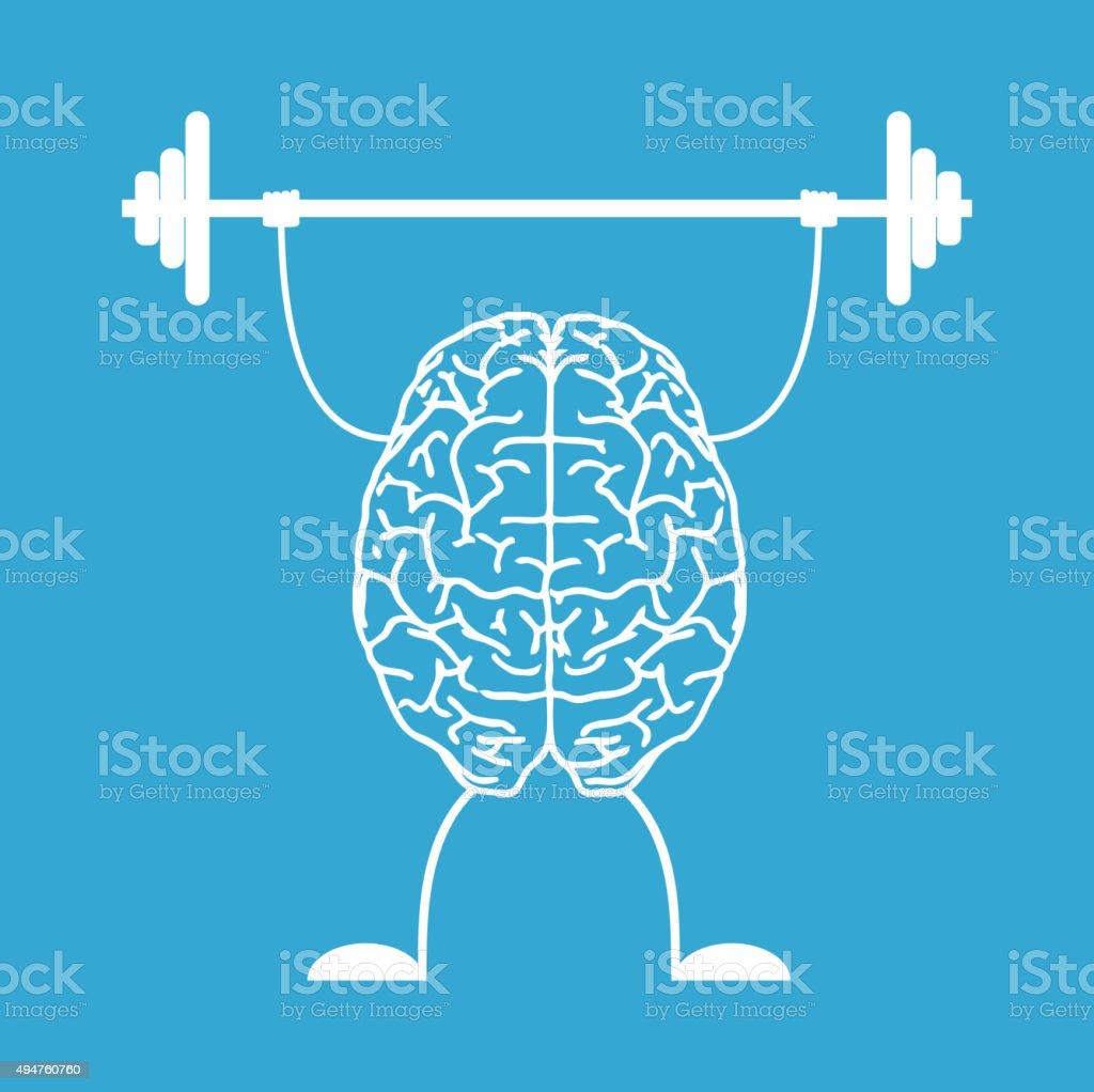 Train your brain. vector art illustration