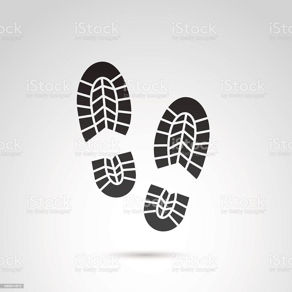 Trainer shoes footprints. vector art illustration