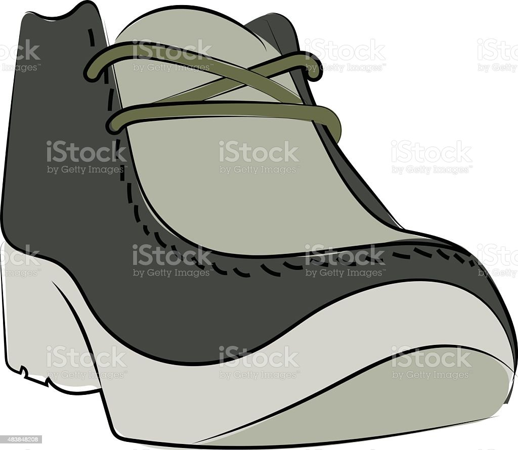 Trainer Shoes Sketchy Colored Vector Icon vector art illustration