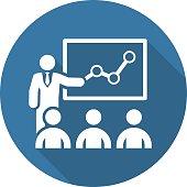 Training Icon. Business Concept. Flat Design.